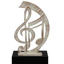 Muzieknoten van metaal