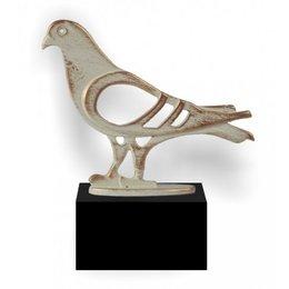 Trofee duif van metaaal