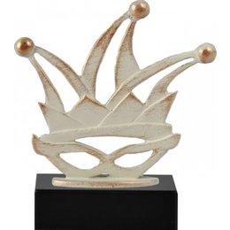 Carnavals award metaal op houten voet
