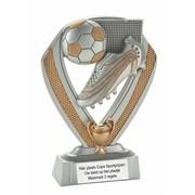Voetbal trofee met bal,schoen en cup