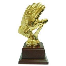 Keeperhandschoen goud 27cm hhog