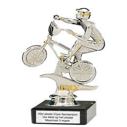 BMX figuur op marmer