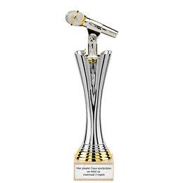 Beker met Microfoon figuur 28.5 t/m 32.5cm