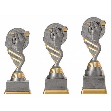 Dartl trofee antiek grijs-goud