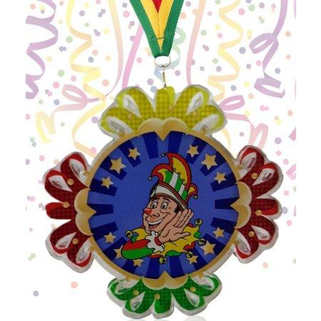 Carnavalsmedaille Acryl 7x7cm