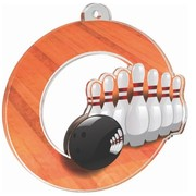 Acryl medaille Bowling 50mm