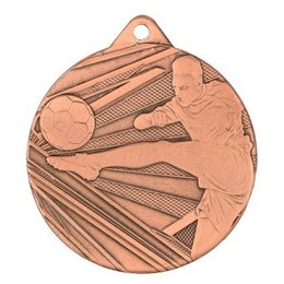 Medaille relief voetbal ø50mm