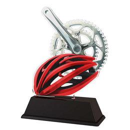 Wielren trofee acryl 14.5 t/m 16.5cm