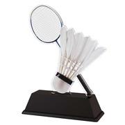 Badminton trofee acryl 14.5 t/m 16.5cm