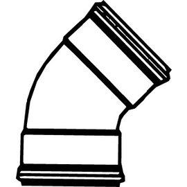 Pipelife Nederland B.V. Pipelife PVC bocht 45 gr. mof mof buitengebruik