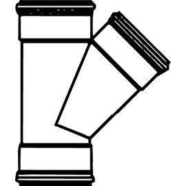 Pipelife Pipelife PVC T stuk 45 gr. SN8 mof mof mof buitengebruik