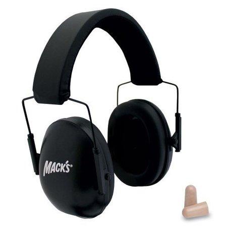 Macks Schietsport oorkap | kleur zwart | Verstelbaar