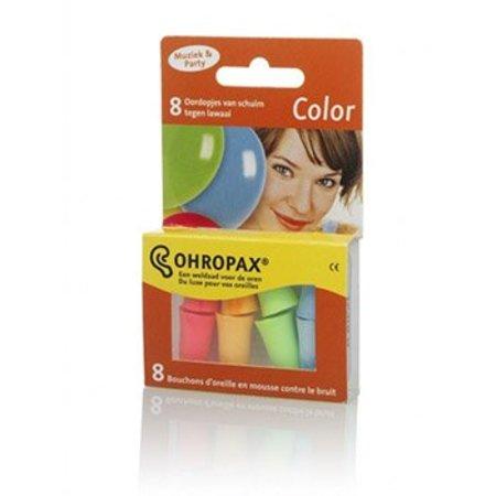 Ohropax Color gehoorbescherming | 8 stuks | veel kleuren