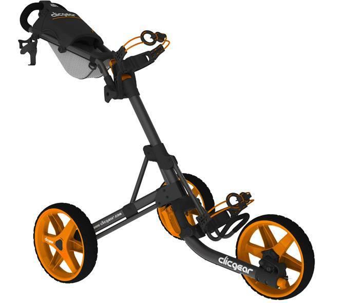 Clicgear golftrolley zwart oranje