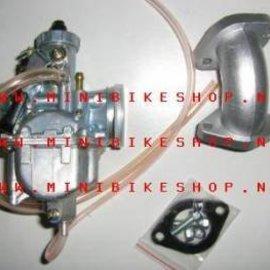 Sendai Mikuni 26mm carburateur kit incl. luchtfilter en spruitstuk