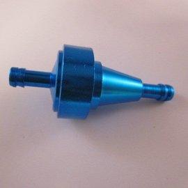Sendai Universeel Aluminium benzinefilter blauw