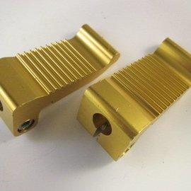 Sendai Voetsteunen massief aluminium goud klein (16D1)