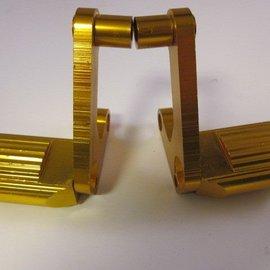Sendai Polini GP3 Aluminium voetsteunen (2stuks) goudkleur