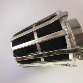 Sendai 39mm Ufo spons luchtfilter zilverkleur