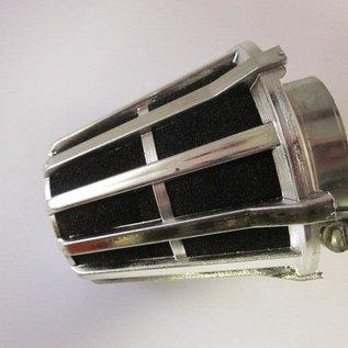 Sendai 4-takt Universeel 39mm Ufo spons luchtfilter zilverkleur