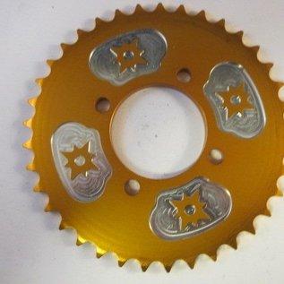 Sendai 4-takt Universeel 37 tands 54-70 (type 420) aluminium GOUD (15F3)