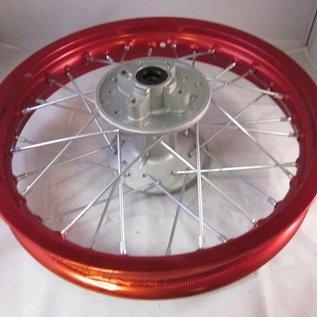 Sendai 14 inch achtervelg aluminium rood