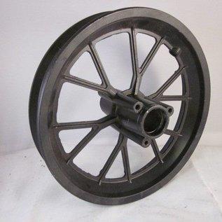 Sendai Voorvelg mini-crosser aluminium zwart maat: 12,5x275