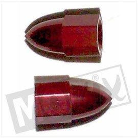 Sendai Ventieldop aluminium in kleur puntvorm (2 stuks)
