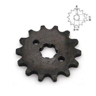Sendai 14 tands Voortandwiel type: 420 ketting, 17mm as
