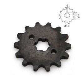 Sendai 17 tands Voortandwiel type: 420 ketting, 17mm as