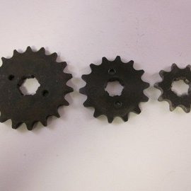 Sendai 17 tands Voortandwiel type: 428 ketting 17mm as