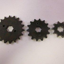 Sendai 17 tands Voortandwiel type: 428 ketting 20mm as