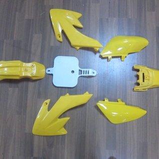 Sendai 4-takt Pitbike/Cross Kappenset 110cc/125cc klein GEEL