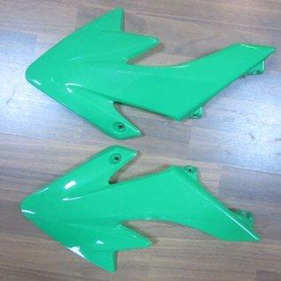 Sendai 4-takt Pitbike/Cross Kappenset 110cc/125cc klein GROEN witte zijkanten