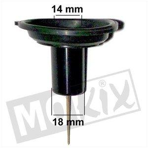 A-Merk Gasschuif membraan GY6 18mm