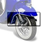 AGM Retro Spatbord sierrand chroom voor de Retro scooters