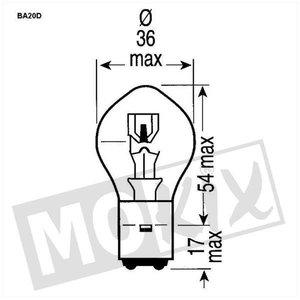 A-Merk Lamp A-merk BA20D 12V 35/35W