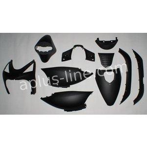 A-Merk plaatset AGM SP50 mat zwart (enkel gespoten delen)