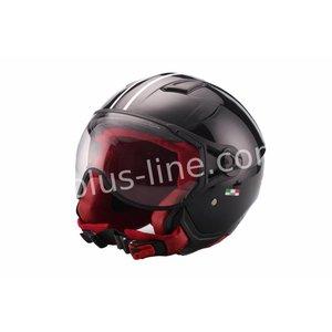 A-Merk helm vito jet moda glans zwart