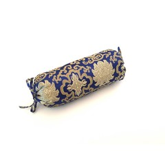 Neck Bolster - Shiny Brocade Blue - Lotus