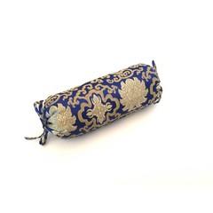 Nek Bolster - Glanzend Brokaat Blauw - Lotus