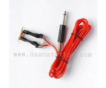 Clipcord with jack plug - red