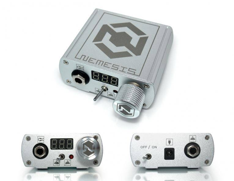 Nemesis tattoo power supply silver dashatattoo for Power supply for tattoo