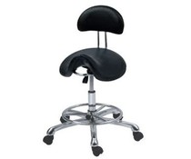 Helix black stool with backrest