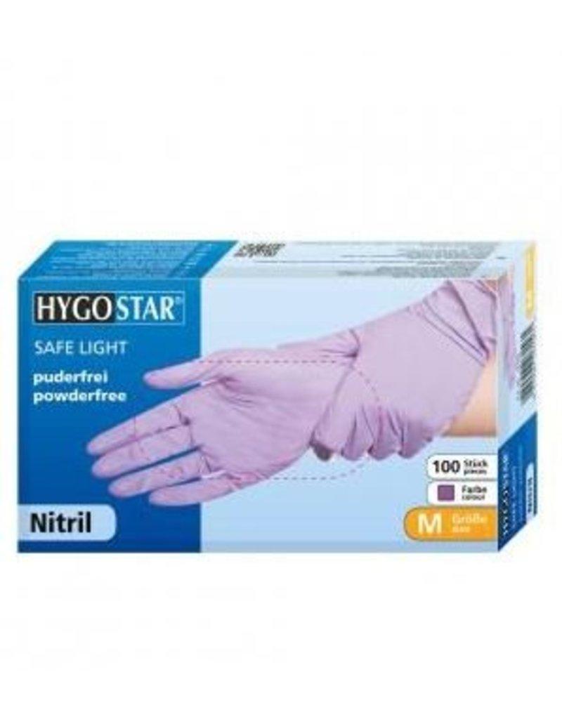 Nitrile gloves purple