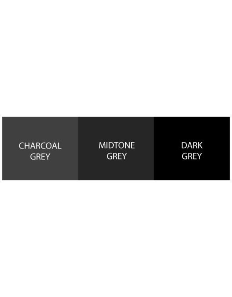 WORLD FAMOUS INK® World Famous Ink, Charcoal Greywash SET 3 x 120ml