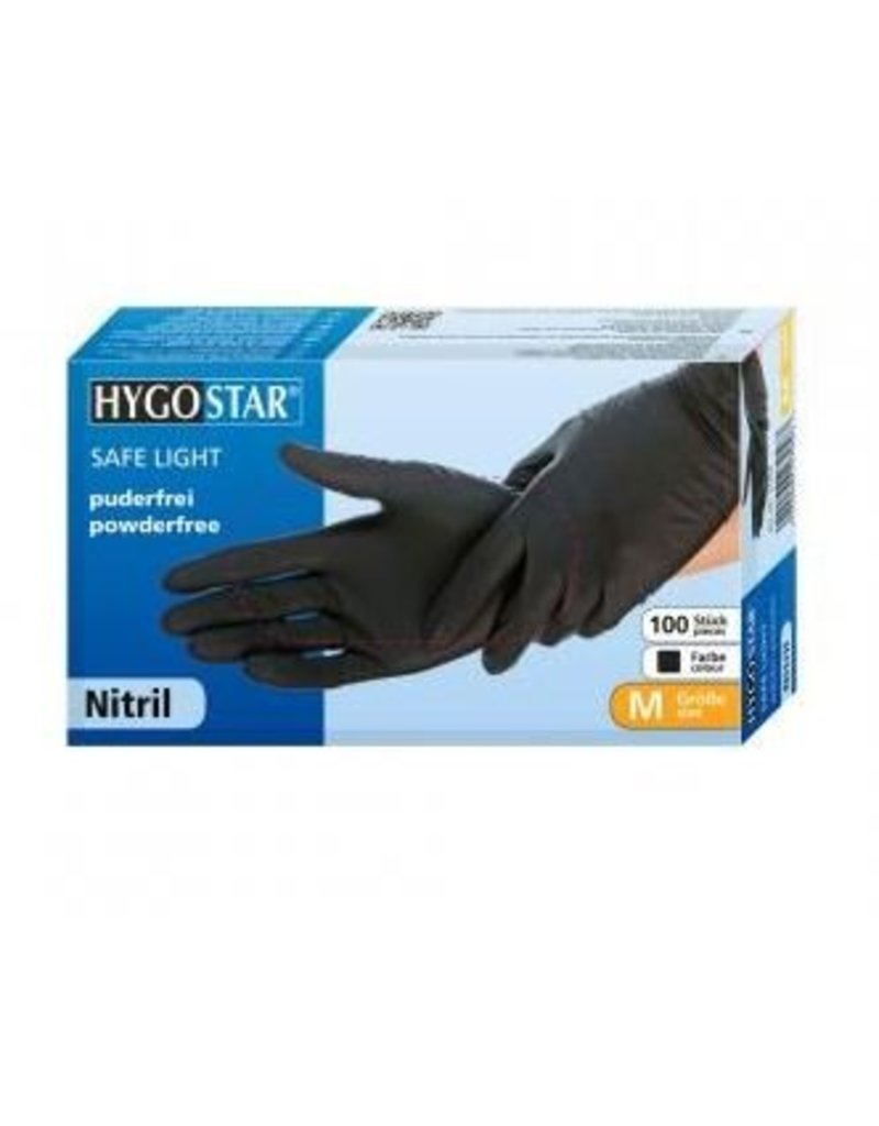 HYGOSTAR® Nitrile gloves - black