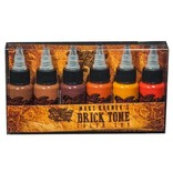 WORLD FAMOUS INK® Maks Kornev's Brick Tone Color Set - 1oz - 6x30ml