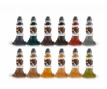 WORLD FAMOUS INK World Famous Earthtone Ink Set 12 x 30ml