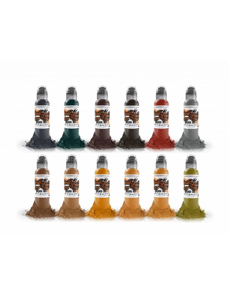 WORLD FAMOUS INK World Famous Earthtone Ink Set 12 x 30ml